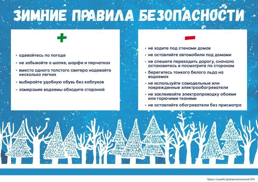 Днепрянам напомнили о правилах безопасности зимой