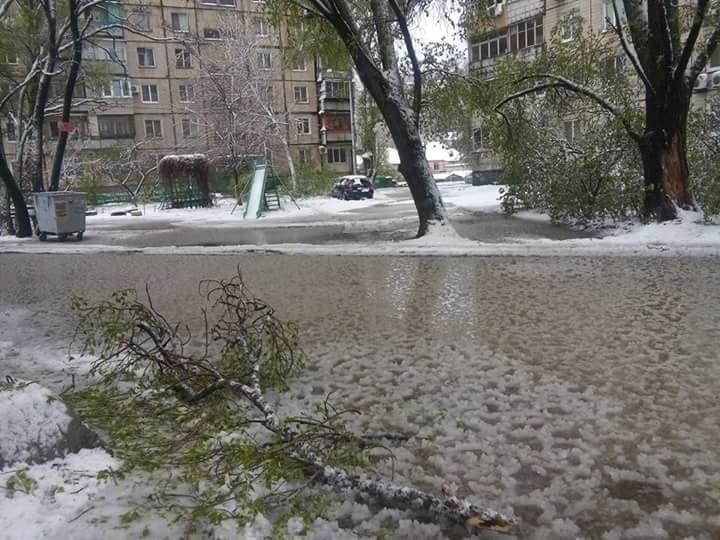 Дворы левобережья превратились в болота с кусками льда (фото)