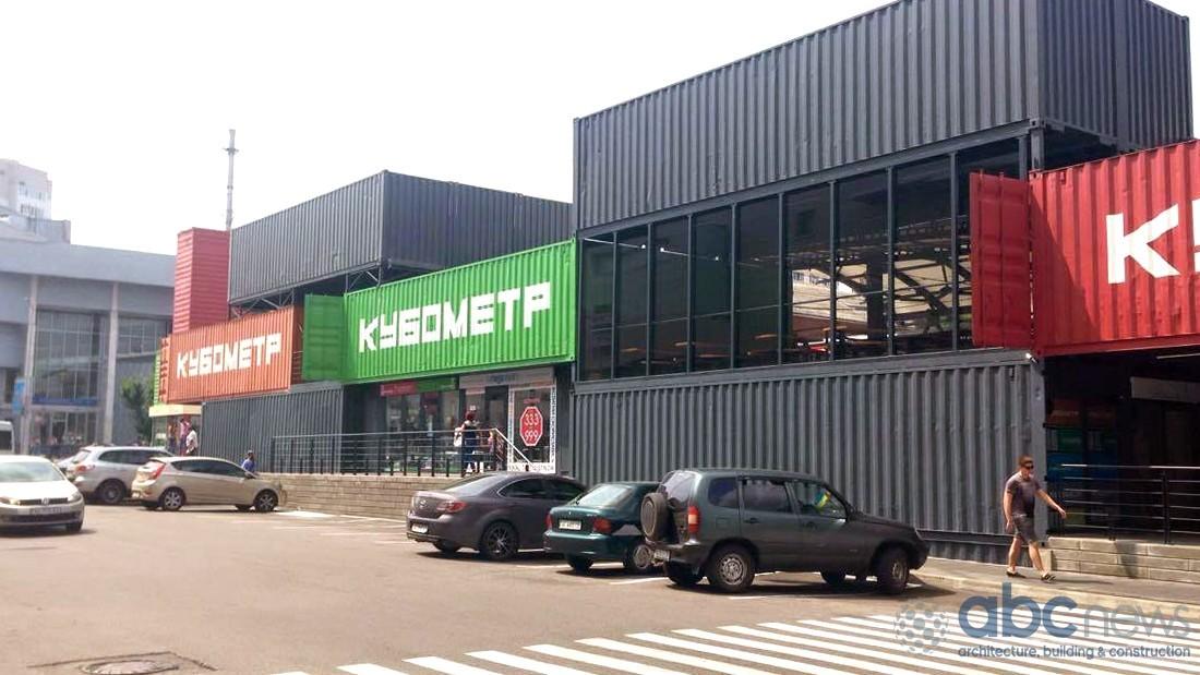 """Как выглядит первый в Украине торговый центр из контейнеров: """"Кубометр"""" изнутри (Фото)"""
