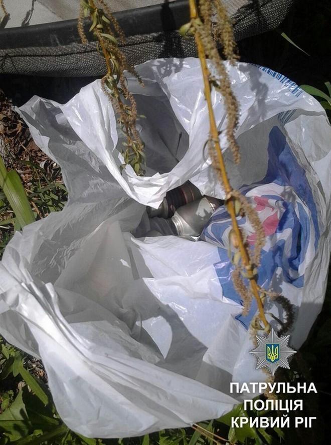 На улице обнаружили пакет с гранатами (фото)