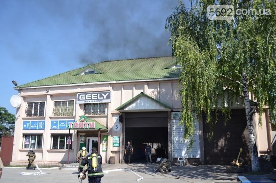 Пожар на СТО (фото)
