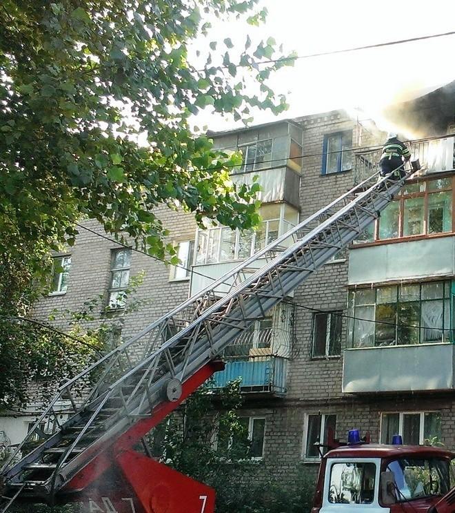 Сильный пожар: найден труп женщины (фото)