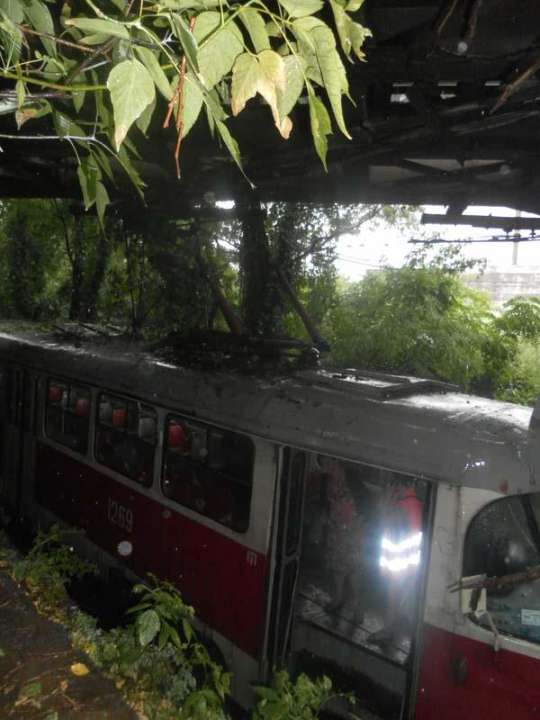В Днепре горел трамвай маршрута №5