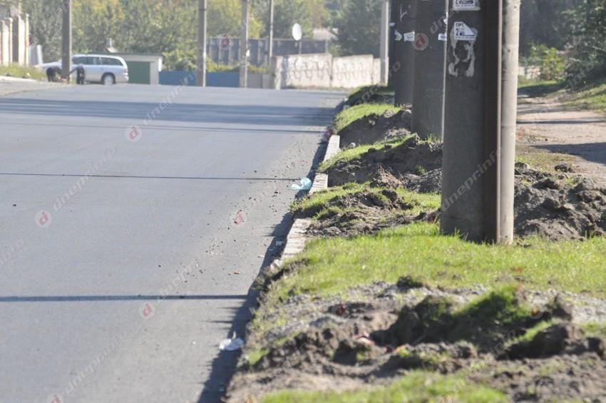В Днепре обновляют дорогу, не знавшую капитального ремонта уже много лет (фото)