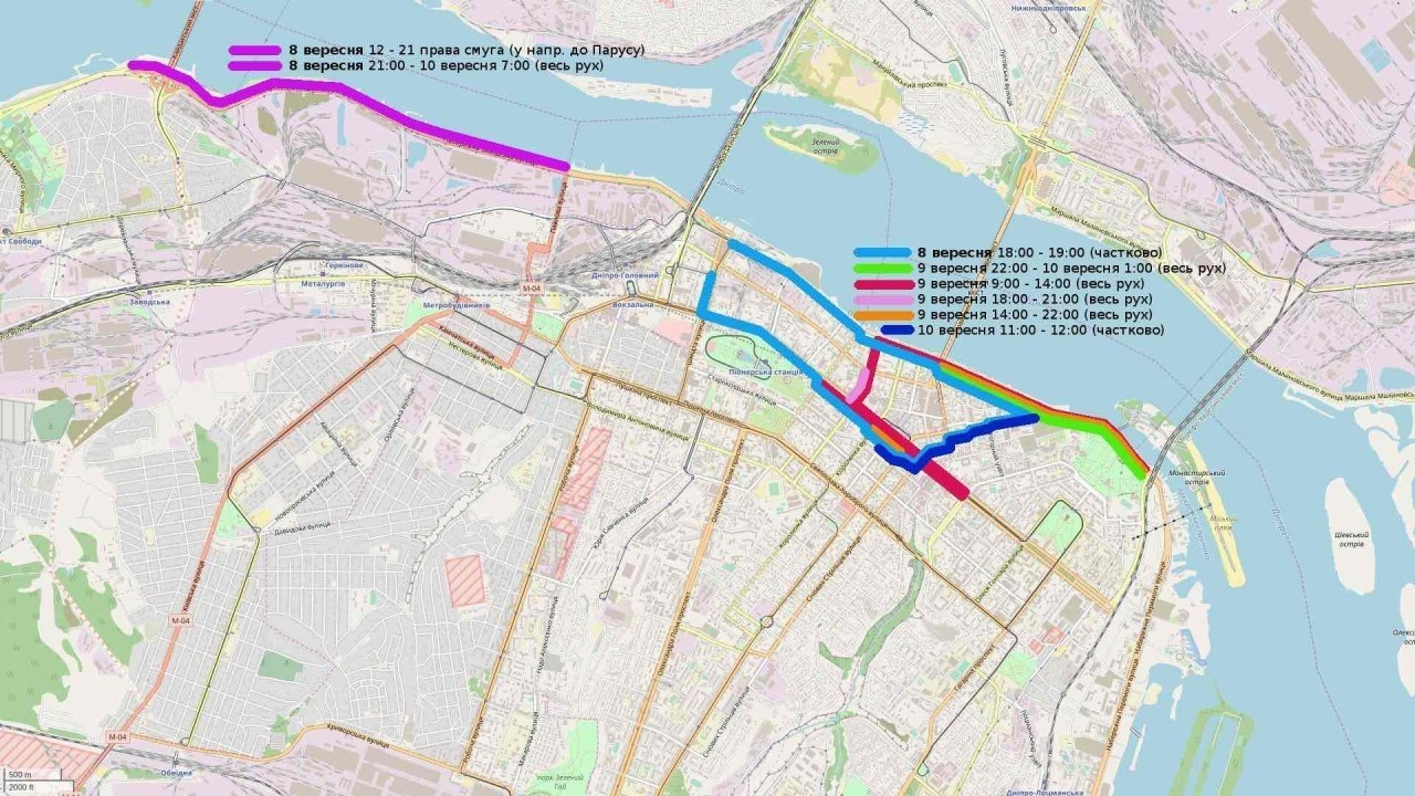 В сети появилась карта перекрытия дорог на День города
