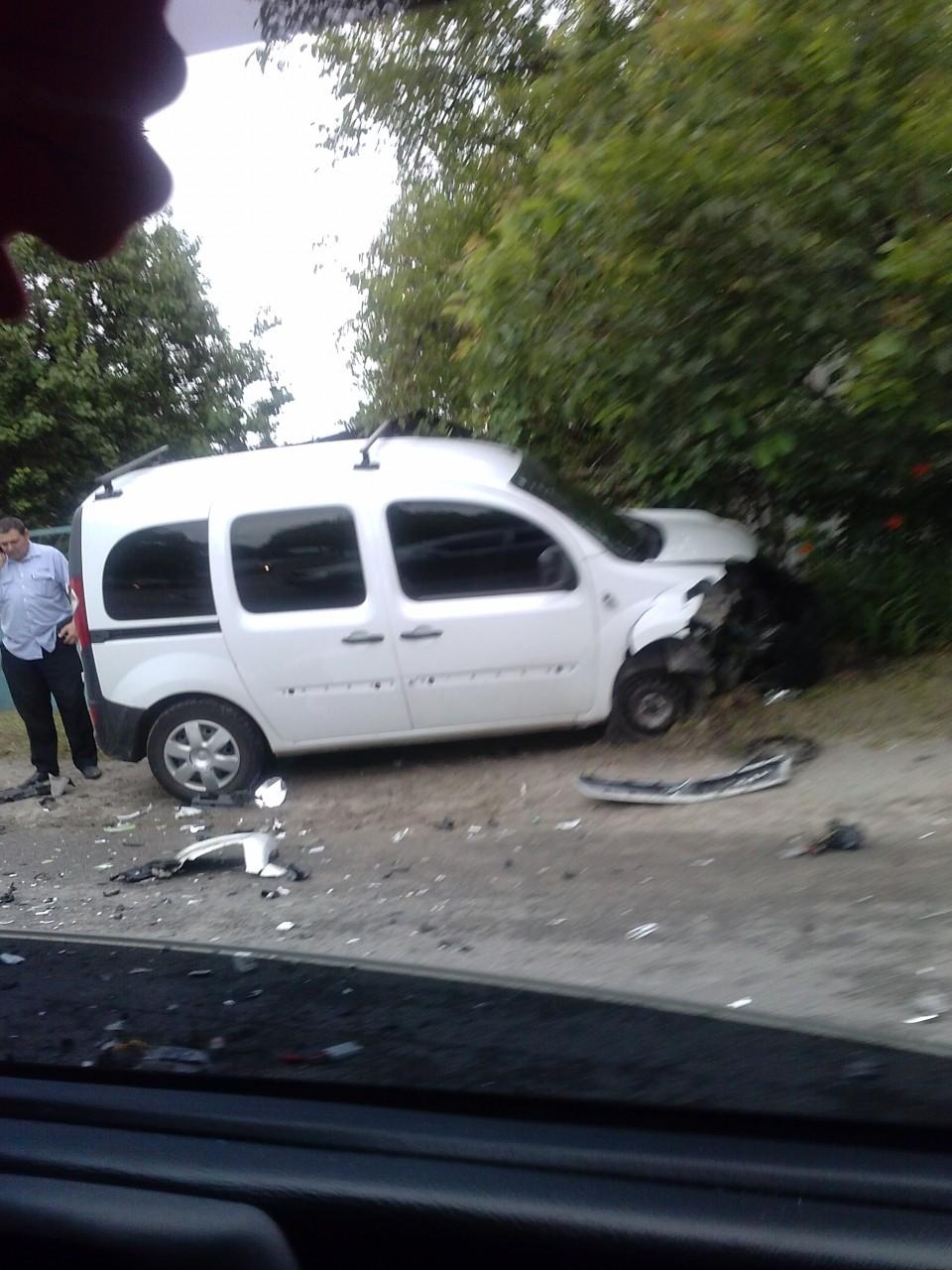 Жесткое лобовое столкновение на выезде из Днепра (фото)